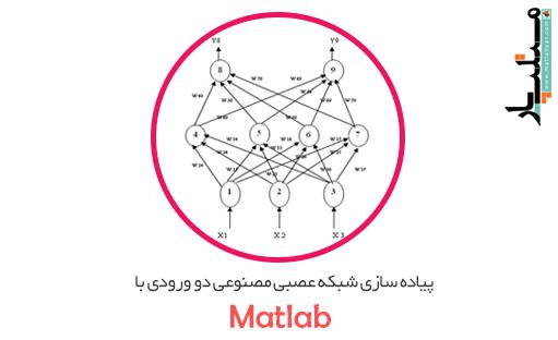 پروژه پیاده سازی شبکه عصبی مصنوعی دو ورودی با متلب + گزارش ورد