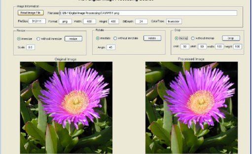 پروژه پردازش تصویر در متلب – resize، rotate و crop